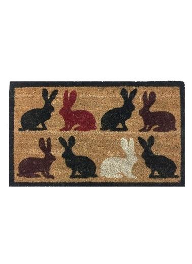 Giz Home Koko Kapı Paspası 40X60 Tavşanlar Renkli